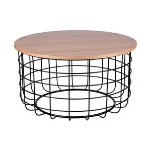 Brązowo-czarny stolik sømcasa Celso, ø80cm