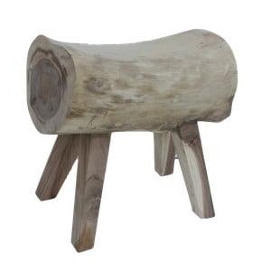 Taboret z drewna mungur HSM Collection Log