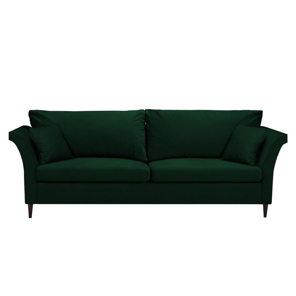 Zielona rozkładana sofa ze schowkiem Mazzini Sofas Pivoine