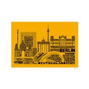 Plakat Berlin Yellow&Black, 50x70 cm