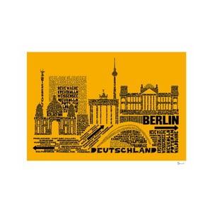 Plakat Berlin Yellow&Black, 50x70 cm
