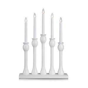 Biały świecznik drewniany LED Markslöjd Lovasa
