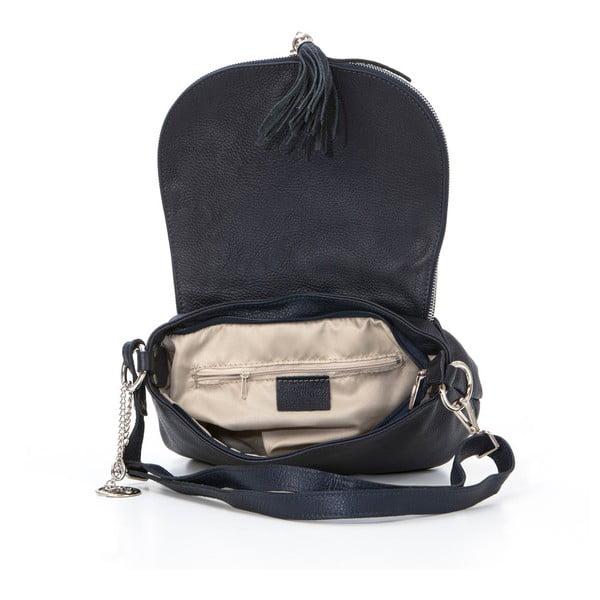 Skórzana torebka Paolo, granatowa