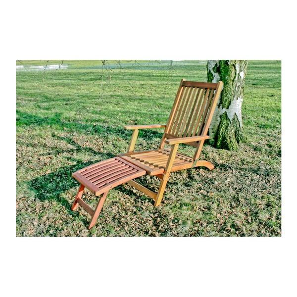 Ogrodowy leżak składany z drewna eukaliptusowego ADDU Montego