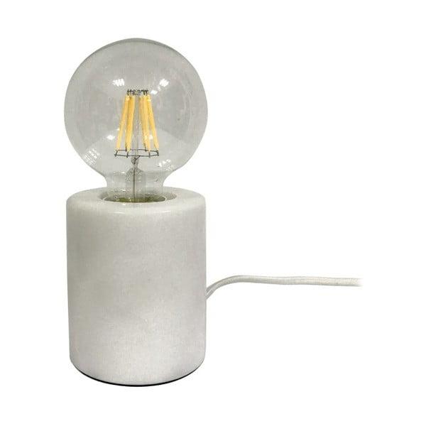 Lampa stołowa z białą marmurową podstawą Leitmotiv Bar