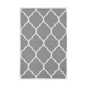 Szary dywan wełniany Bakero Lara, 90x60 cm