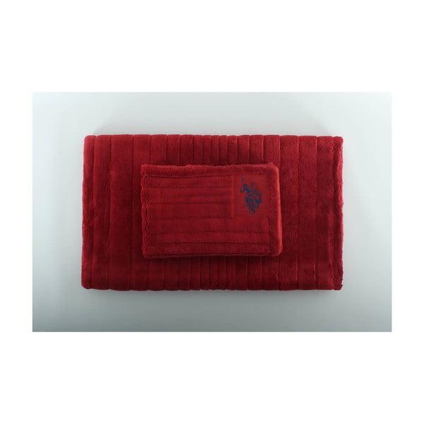 Zestaw 2 dywaników łazienkowych Joplin Red