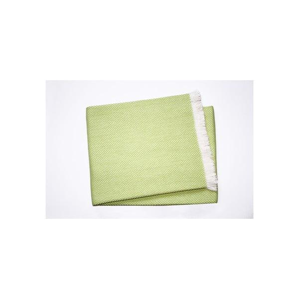 Lekki koc Skyline Lime Green, 140x250 cm