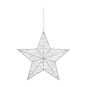 Świecąca dekoracja wisząca Markslöjd Tjusa Star Silver