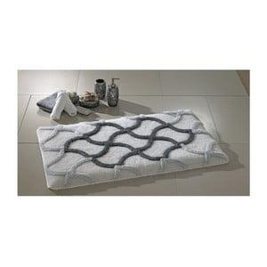 Szary dywanik łazienkowy Confetti Bathmats Hermos, 60x100 cm