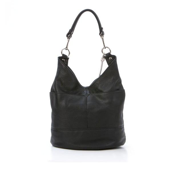 Skórzana torebka Guido, czarna