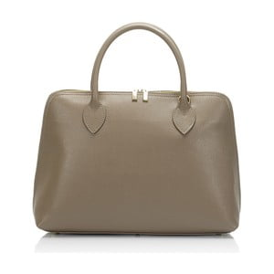 Béžová kožená kabelka Massimo Castelli Liana
