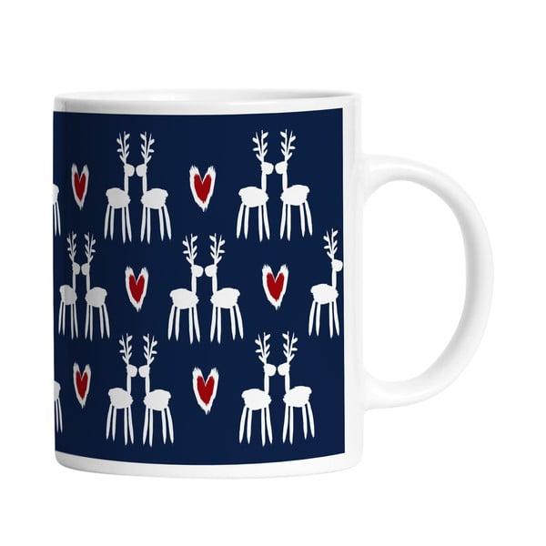 Ceramiczny kubek Deer Love, 330 ml