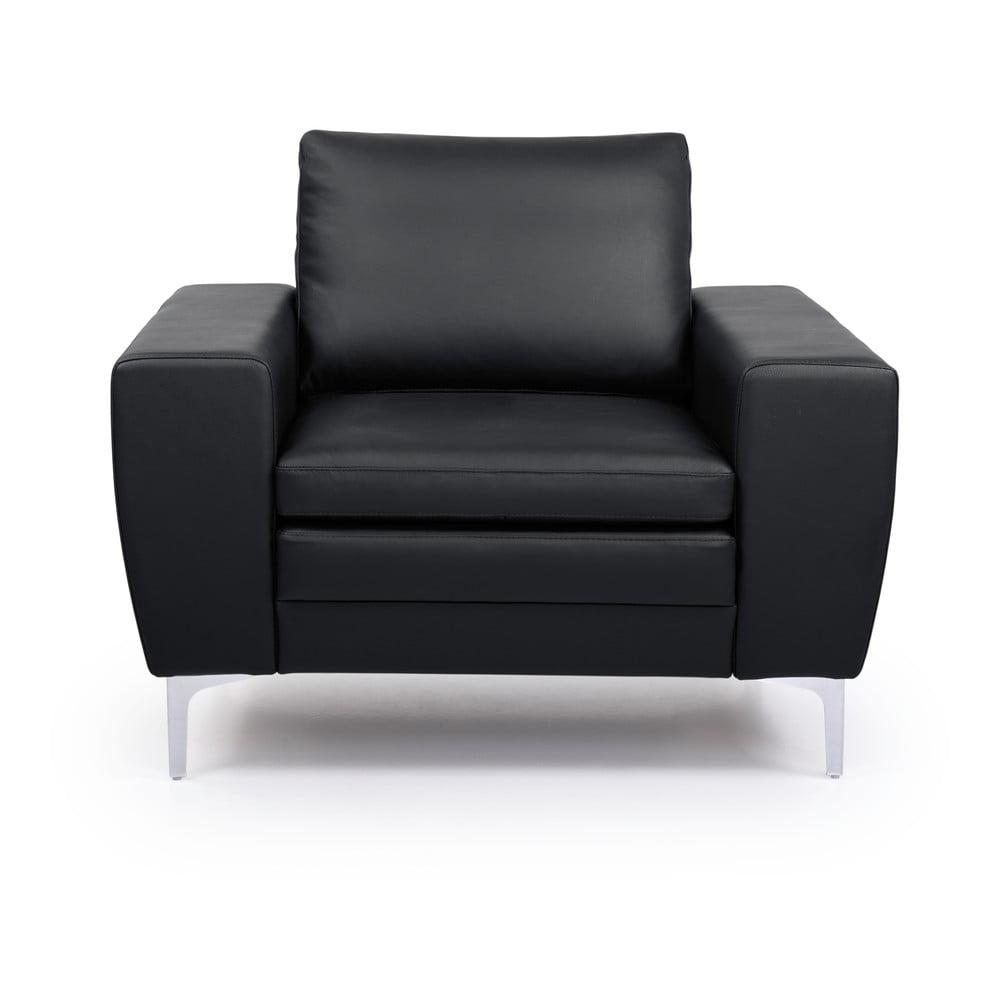 Czarny fotel skórzany Scandic Twigo