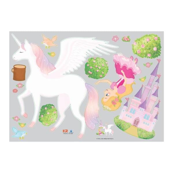 Zestaw naklejek Ambiance Princess, Unicorn and Castle