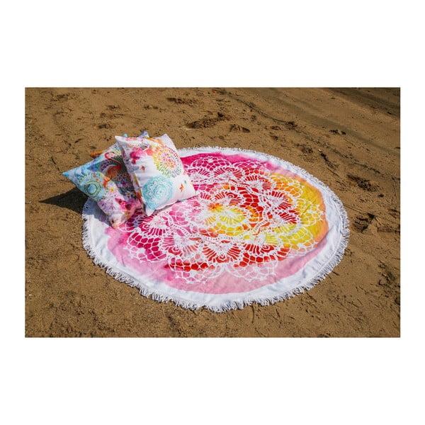 Okrągły ręcznik kąpielowy z bawełny ATMOSPHERE Germaine, 160 cm