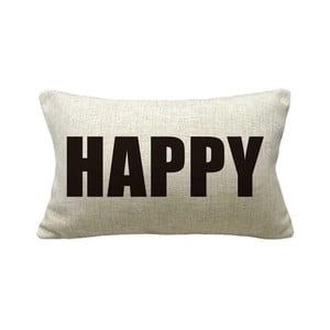 Poszewka na poduszkę Happy, 50x30 cm