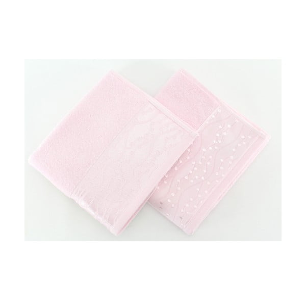 Komplet 2 ręczników Tomuruk Powder, 50x90 cm