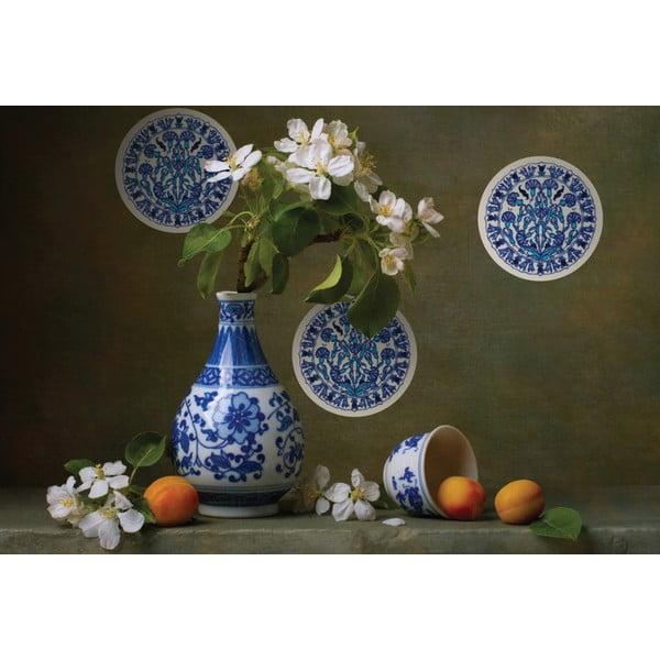 Naklejki Mandala, blue/white, 4 szt