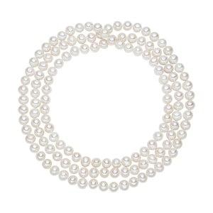 Biały   perłowy naszyjnik Chakra Pearls, 120 cm