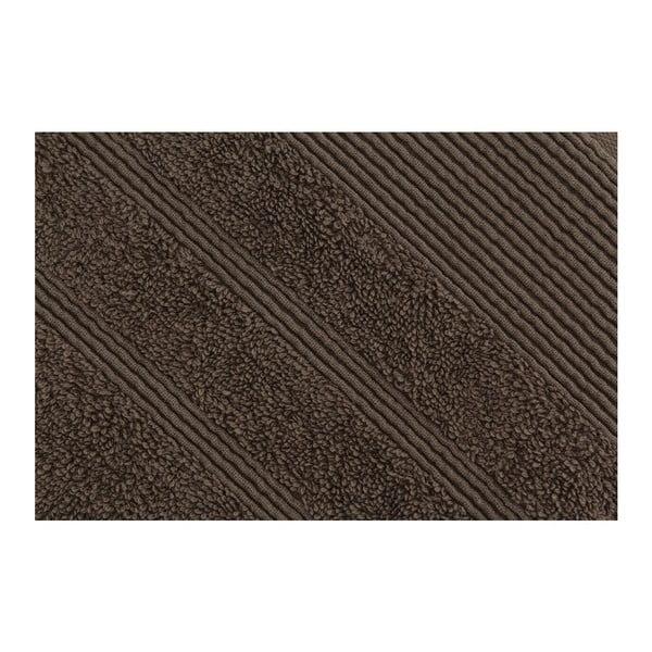 Brązowy ręcznik kąpielowy Dost, 76x142 cm