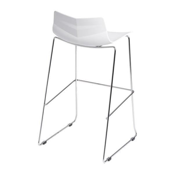 Krzesło barowe D2 Leaf, białe