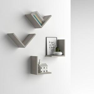 Zestaw 4 półek z dekorem betonu MobiliFiver MenaciV