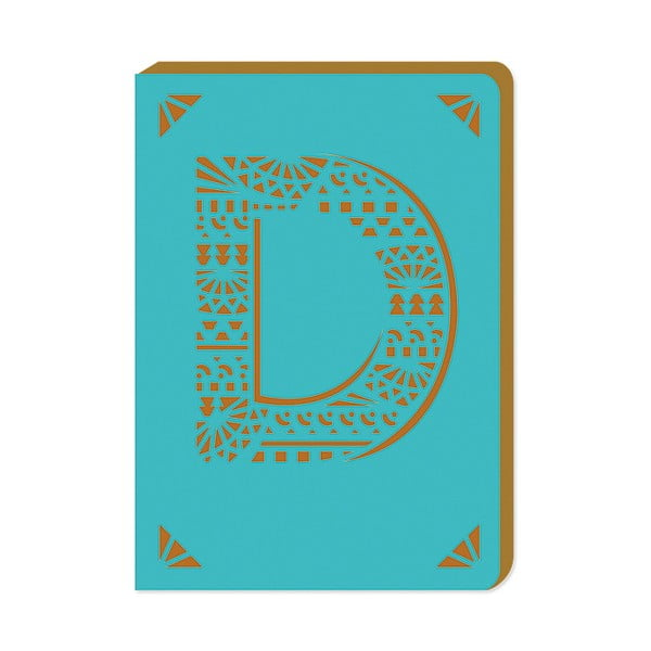 Notatnik w linie A6 z monogramem Portico Designs D, 160str.