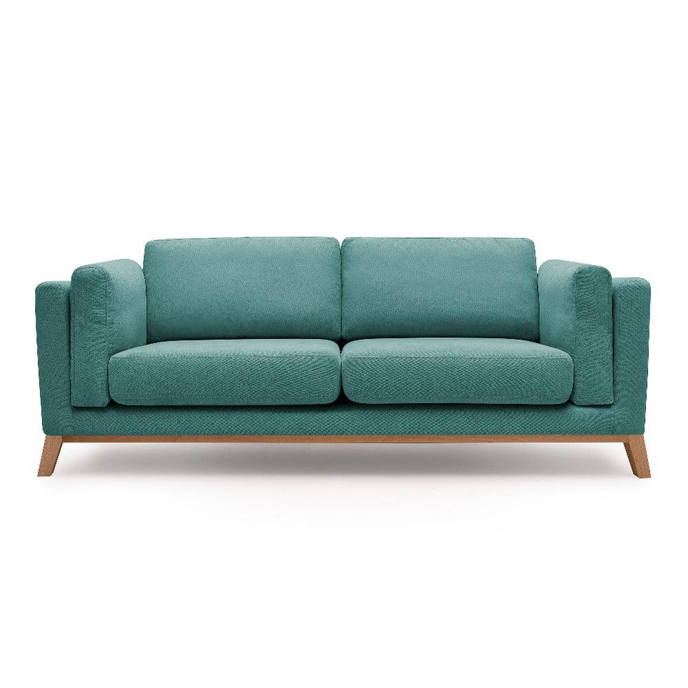 Turkusowa sofa 2-osobowa Bobochic Paris Enjoy