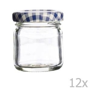 Zestaw 12 szklanych słoików Kilner Round, 43ml