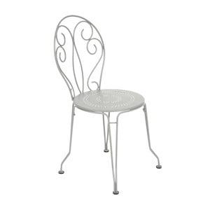 Jasnoszare krzesło metalowe Fermob Montmartre