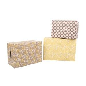 Zestaw 3 pudełek Yellow Brown