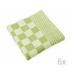 Komplet 6 zielonych ścierek Tiseco Home Studio Mineur, 65x65 cm