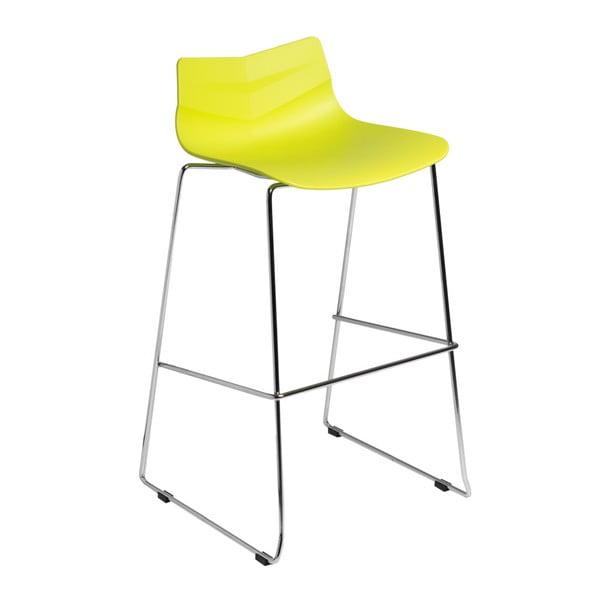 Krzesło barowe D2 Leaf, limonkowe