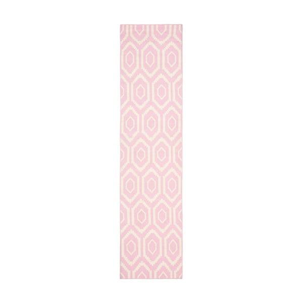 Dywan wełniany Safavieh Casablanca Rosa, 76x243 cm