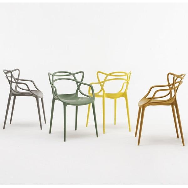 Zielone krzesło Kartell Masters