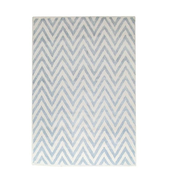 Dywan wełniany Ziggy Ivory Blue, 183x122 cm