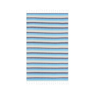 Niebieski ręcznik hammam Begonville Skye Cool, 180x95cm