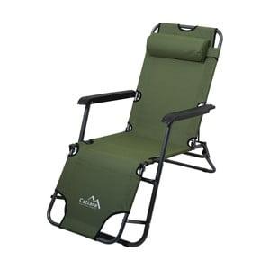Zielony składany leżak turystyczny / fotel Cattara Comfort