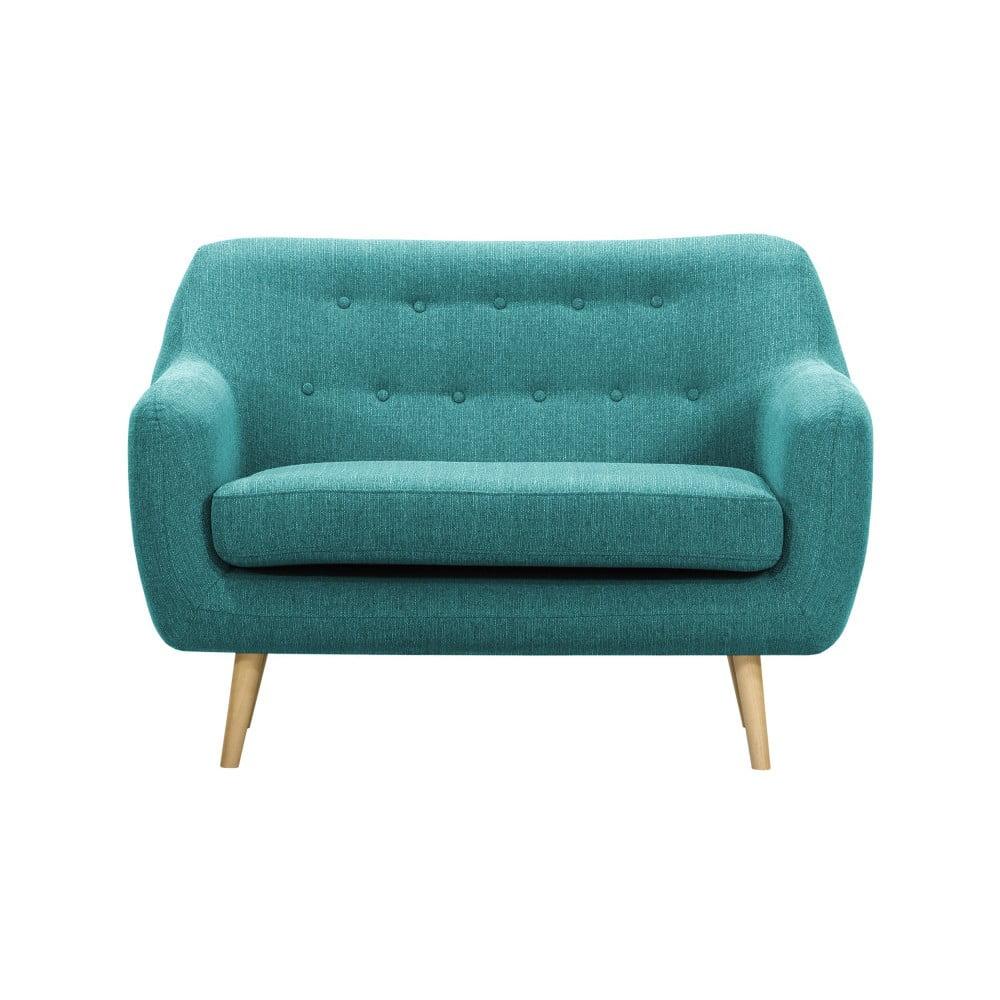 Turkusowa sofa 2-osobowa Vivonita Lila