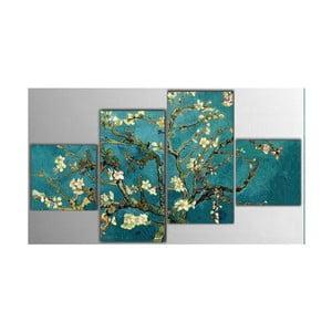 Czteroczęściowy obraz Art Flowers, 50x100 cm