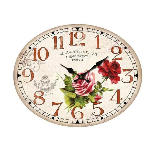 Owalny zegar ścienny Bolzonella Rosaio