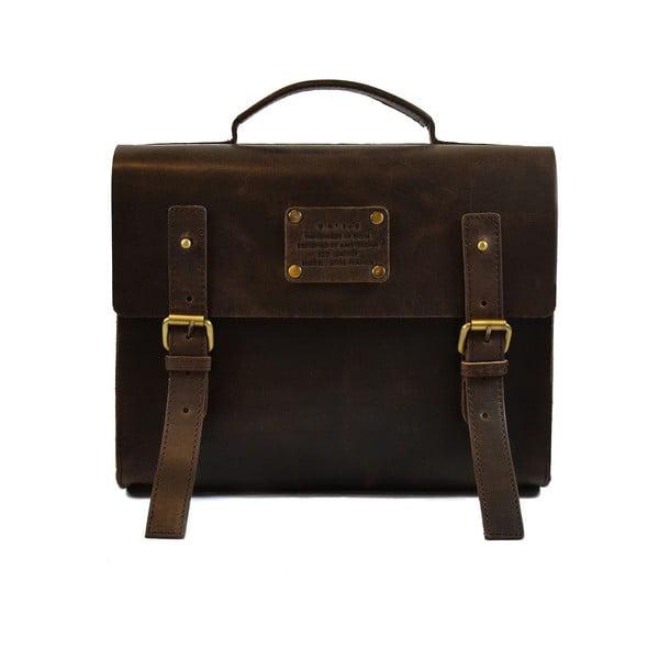 Ciemnobrązowa torba skórzana vintage Little Frankie