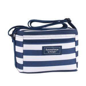 Tmavě modrá pruhovaná chladicí taška Navigate, 4l