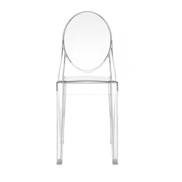 Przezroczyste krzesło Kartell Victoria Ghost