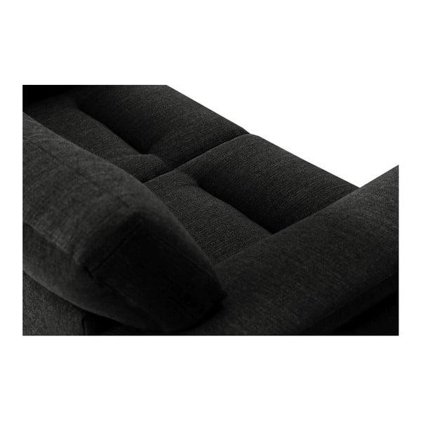 Czarna sofa 2-osobowa Stella Cadente Maison Madeiro