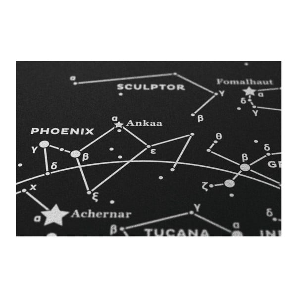 Plakat The Southern Sky Silver/White/Black, 50x70 cm