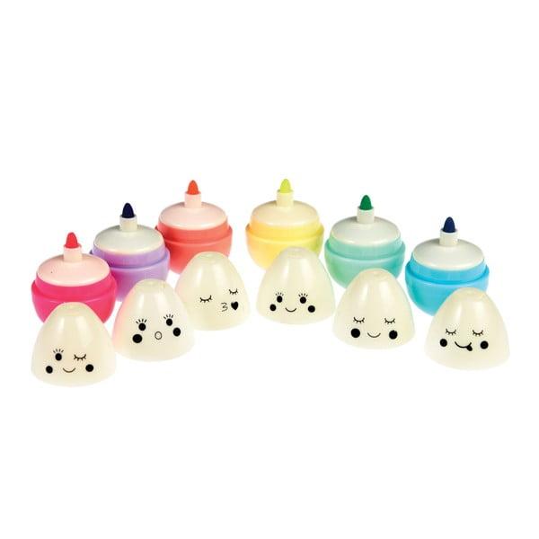 Zestaw 6 flamastrów w kształcie jajek Rex London Emoji Egg