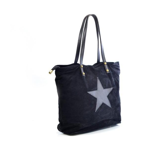Skórzana torebka Sharon, czarna