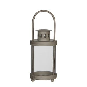 Szary lampion Mica Lathern, 15,5x8 cm